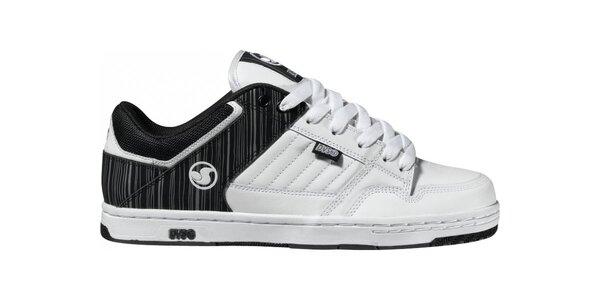 Pánske černo-biele kožené tenisky DVS