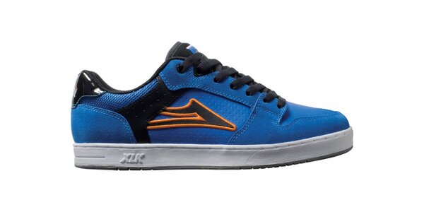 Pánske modré semišové tenisky Lakai s čiernymi pruhmi