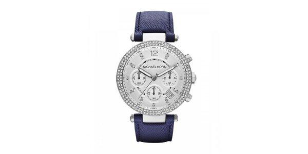 Dámske hodinky s modrým remienkom Michael Kors