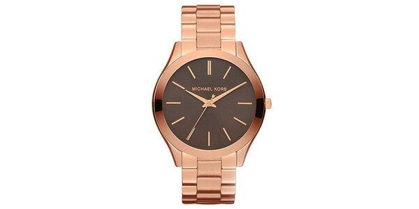 Dámske hodinky s tmavým podkladom ciferníku Michael Kors