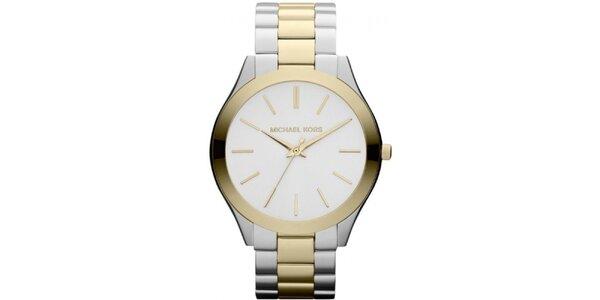 Dámske hodinky v strieborno-zlatom tóne Michael Kors