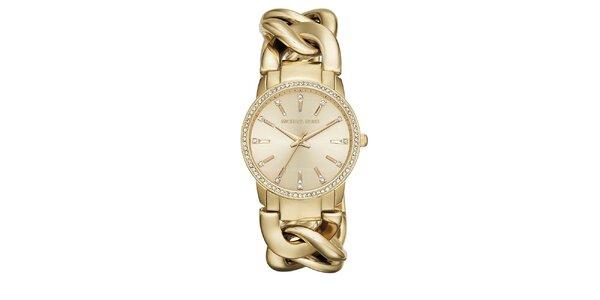 Dámske pozlátené hodinky Michael Kors