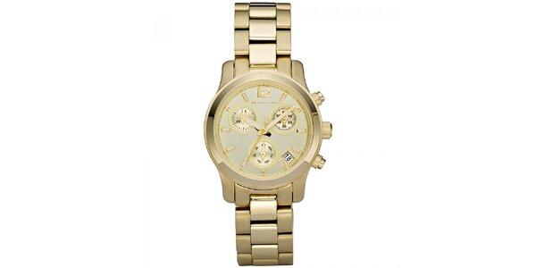 Dámske hodinky z nerezovej ocele v zlatej farbe Michael Kors