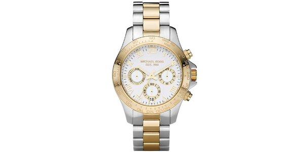Dámske dvojfarebné hodinky z nerezovej ocele Michael Kors