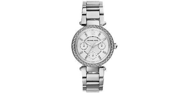Dámske hodinky z nerezovej ocele s malými kryštálikmi Michael Kors