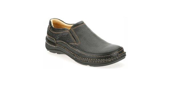 Pánske čierne nazúvacie topánky Clarks