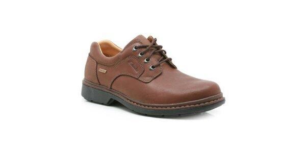 Pánske šnurovacie topánky Clarks - hnedá farba