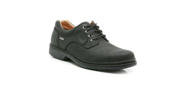 Pánske šnurovacie topánky Clarks - čierna farba