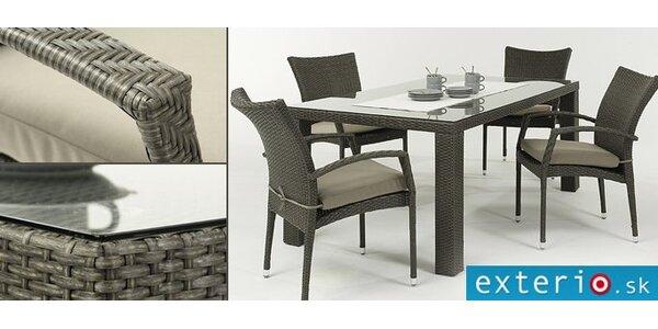 447 eur za štýlovú ratanovú stolovú zostavu so zľavou 50 %!