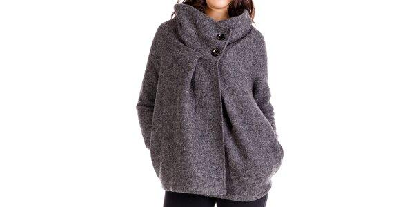 Dámsky antracitový oversized kabát Keysha