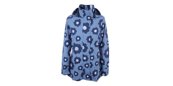 Dámska modrá bunda do dažďa Happy Rainy Days