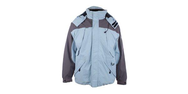 Pánska svetlo modrá bunda so sivými prvkami Joluvi