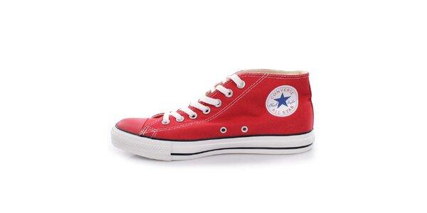 Červené členkové tenisky Converse