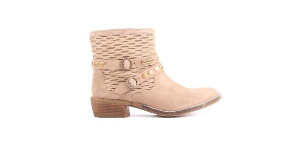Dámska svetlá členková obuv s remienkami Les Tropezienne