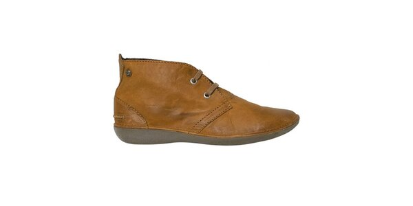 Dámske béžové členkové zaväzovacie topánky Buggy