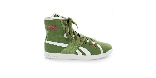 Dámske zelené členkové topánky Reebok df00b4711e0
