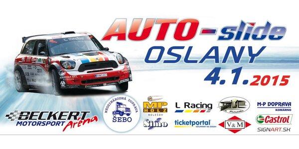 Vstupenky na obľúbenú motoristickú šou AUTO-slide - 4.1.2015