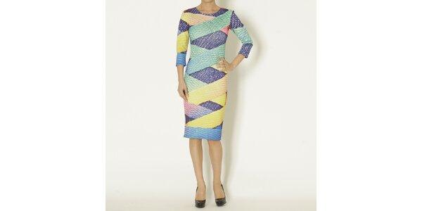 Dámske šaty s farebnou potlačou Chaser