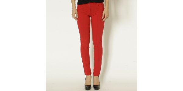 Dámske červené slim fit nohavice Chaser