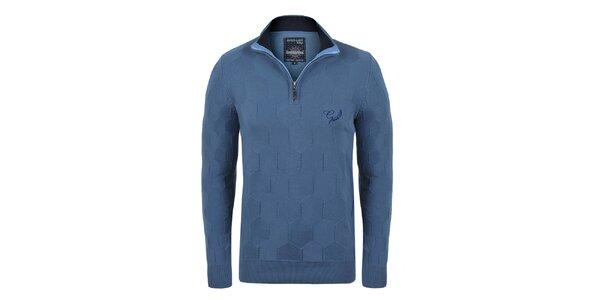 Pánsky modrý sveter so vzorom Giorgio di Mare
