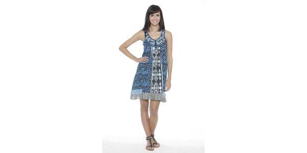Dámske modro-biele vzorované šaty Peace&Love