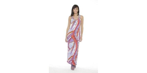 Dámske dlhé fialovo-červené šaty Peace&Love