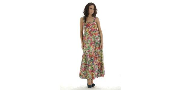 Dámske pestrofarebné dlhé šaty Peace&Love