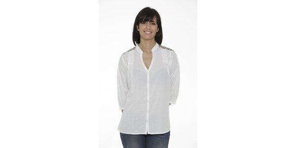Dámska biela košeľa Peace&Love