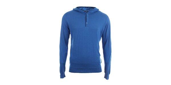 Pánsky modrý sveter s kapucňou Pietro Filipi