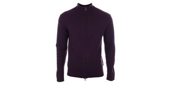 Pánsky fialový sveter z vlny Pietro Filipi