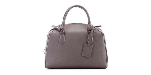 Dámska šedá kožená kabelka Belle & Bloom