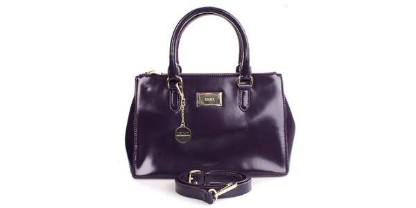 Dámska fialová lesklá kabelka DKNY