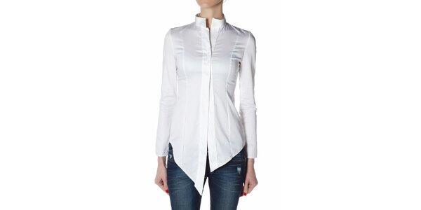 Dámska biela košeľa Gene so šosmi