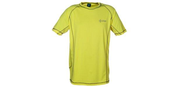 Pánske žlté funkčné tričko s kontrastnými švami Kilpi