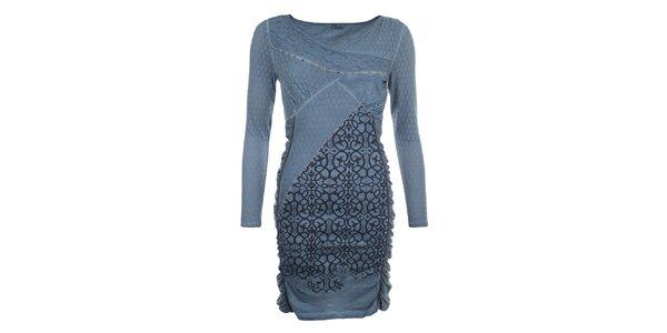 Dámske indigovo modré šaty so vzorom Angels Never Die
