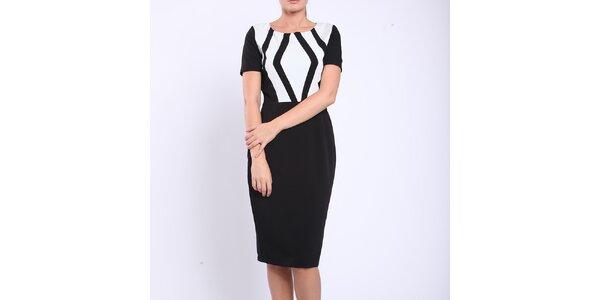 Dámske čiernobiele púzdrové šaty Melli London
