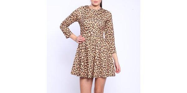 Dámske šaty s leopardím vzorom Melli London