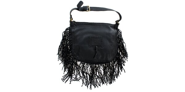 Dámska čierna kabelka so strapcami Levis