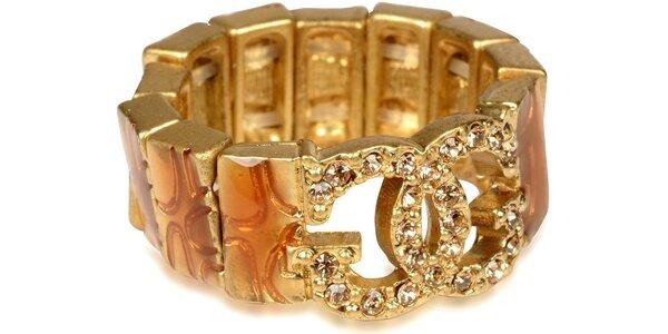 Guess prsteň univerzálnej veľkosti, hnedo-zlatá farba