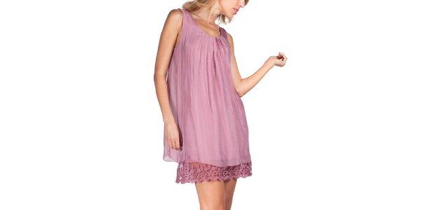 Dámske ružové šaty bez rukávov Sixie