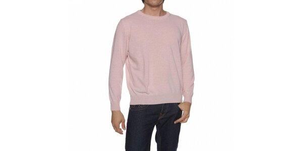 Pánsky svetlo ružový sveter Mario Valentino