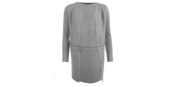 Dámsky šedý dvojdielny sveter Vince Otto