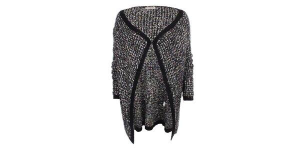 Dámsky dlhší sveter s čiernym lemovaním Beauty Women