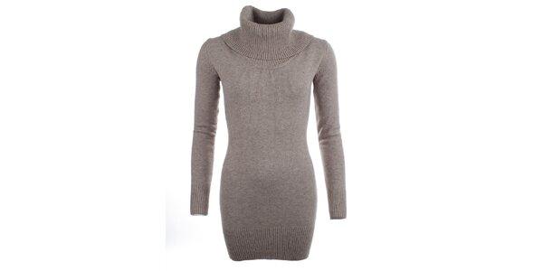 Dámsky béžový sveter s rolákom Beauty Women