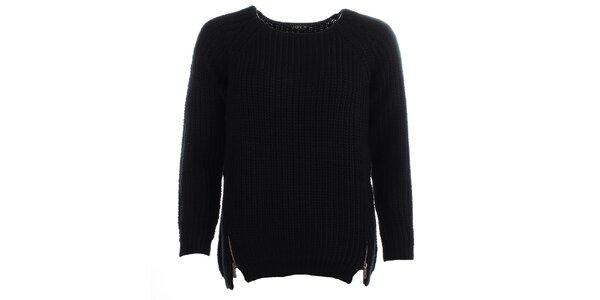 Dámsky čierny sveter JOYX