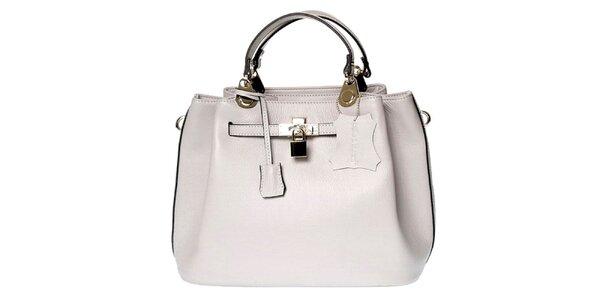 Dámska kožená kabelka so zámčekom Belle & Bloom