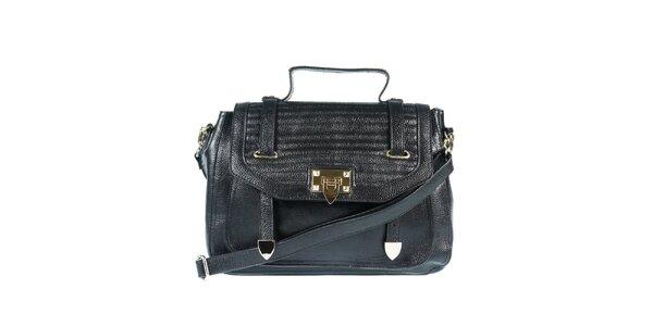 Dámska kožená kabelka v čiernej farbe Belle & Bloom