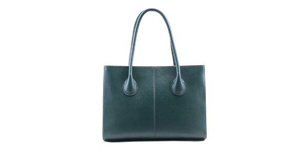 Dámska zelenomodrá kožená obdĺžniková kabelka Belle & Bloom