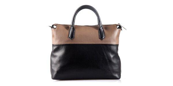 Dámska béžovo-čierna kabelka Belle & Bloom