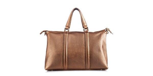 Dámska kožená kabelka v hnedom prevedení Belle & Bloom